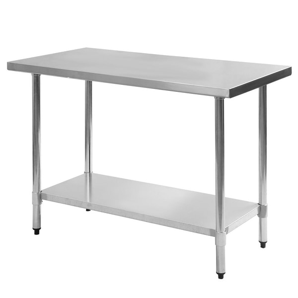 Shop Costway 24\'\' x 48\'\' Stainless Steel Work Prep Table Commercial ...