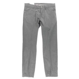 Calvin Klein Mens Dress Pants Twill Slub