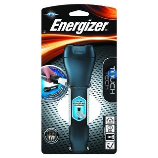 Energizer ENTHH21E Touch Tech LED Flashlight, 50 lumens, Black