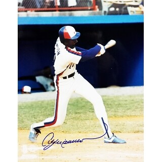 Andre Dawson Montreal Expos Swinging 8x10 Photo