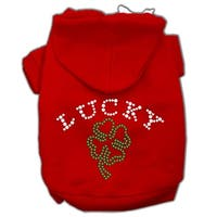Four Leaf Clover Outline Hoodies Red S (10)