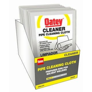 Oatey 31423 Cleaner Pipe Cleaning Cloth, Clear