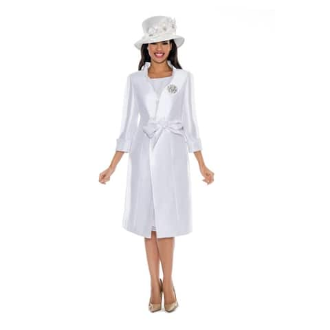 Giovanna Collection Women's Long Coat & Lace Dress