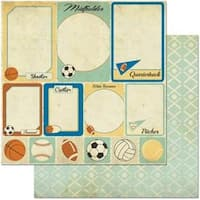 "Cards - Game On! Double-Sided Cardstock 12""X12"""