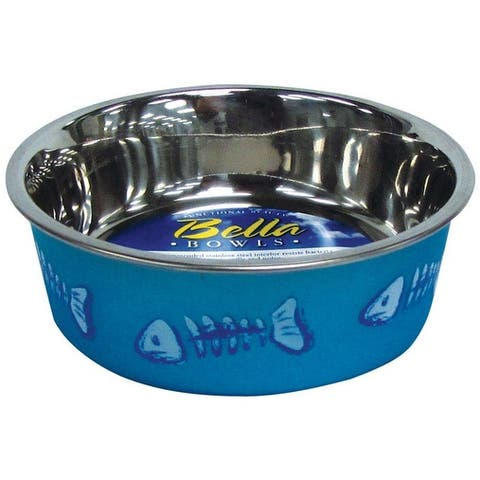 Loving Pets 7750 Skelleton Design Bella Bowl, Blue