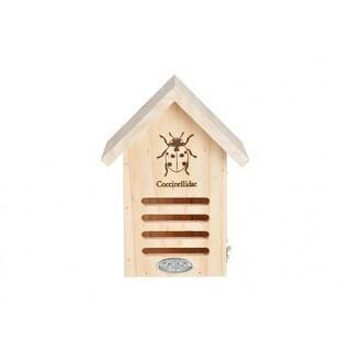 "Esshert Design WA37 Wooden Lady Bug House, 6.7"" x 4.8"" x 9"""