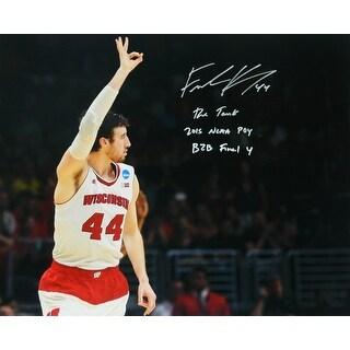 Frank Kaminsky Signed Wisconsin 16x20 Photo w/The Tank, 2015 POY, B2B Final 4