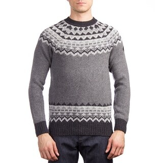 Moncler Men's Wool Argyle Crewneck Sweater Grey