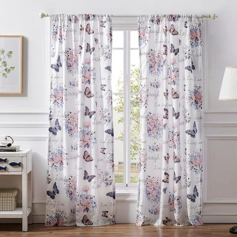 Barefoot Bungalow Garden Joy 4-Piece Curtain Panel Set