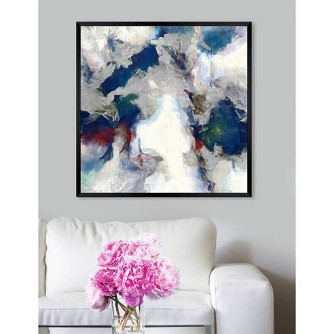 Oliver Gal 'Explosive Shade' Abstract Framed Wall Art Print