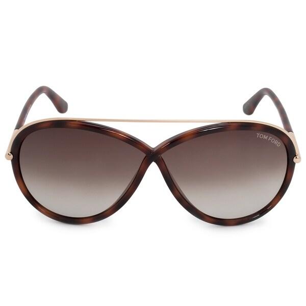 ddd0fb1a96b9 Shop Tom Ford Tamara Oval Sunglasses FT0454 52K 64