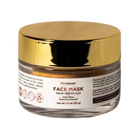 YO1 Naturals Face Mask Indian Healing Clay, Helps Cleanse & Moisturize
