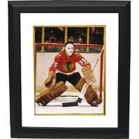 Tony Esposito unsigned Chicago Blackhawks 8x10 Photo Custom Framed