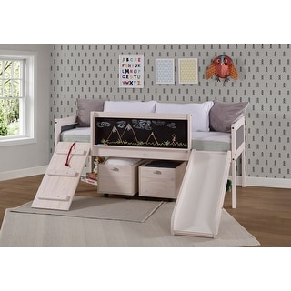 Link to Taylor & Olive Gardenia White Wash Twin Low-loft Bed Similar Items in Kids' & Toddler Furniture
