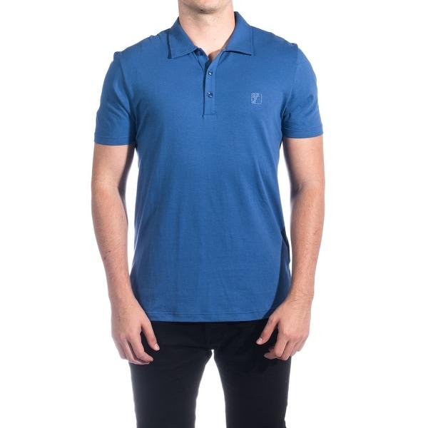1bb93928 Versace Collection Men's Cotton Medusa Logo Polo Shirt Royal Blue