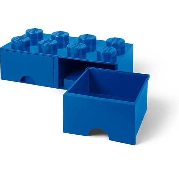 Shop Lego Storage Brick 2 Drawer Bright Blue Multi