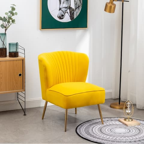 Annabella Mid-Centry Modern Upholstered Armless Accent Chair