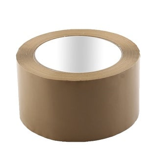 Shipping PVC Box Carton Sealing Adhesive Tape Khaki 2.4 x 98.4 Yards(295.3 Ft)