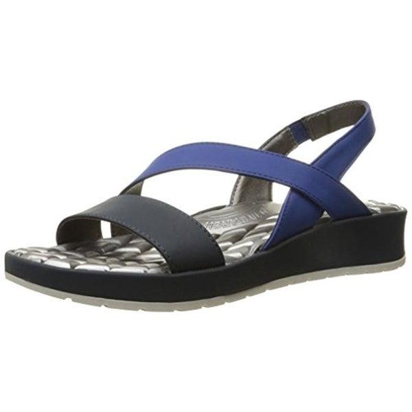LifeStride Womens Progress Platform Sandals Slip On Active Arch