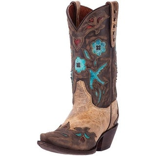 Dan Post Western Boots Womens Vintage Bluebird Ortho Beige DP3538