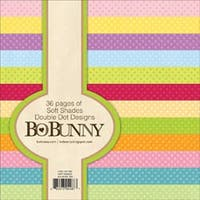 "Soft Shades - Bobunny Double Dot Paper Pad 6""X6"" 36/Pkg"