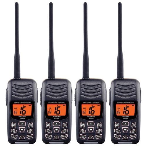 Standard Horizon HX300 Compact 5W Floating Handheld VHF Radio (4 Pack) New