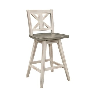 Link to Roux Swivel Counter Height Barstool (Set of 2) Similar Items in Dining Room & Bar Furniture