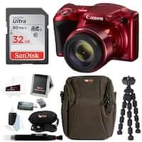 Canon PowerShot SX420 Digital Camera (Red) w/ Sony 32GB Card & Accessory Kit