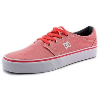 DC Shoes Trase TX SE Women Round Toe Canvas Pink Skate Shoe