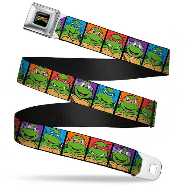 Classic Tmnt Logo Full Color Classic Teenage Mutant Ninja Turtles Face Seatbelt Belt
