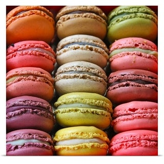 Poster Print entitled Colorful Macaroons.