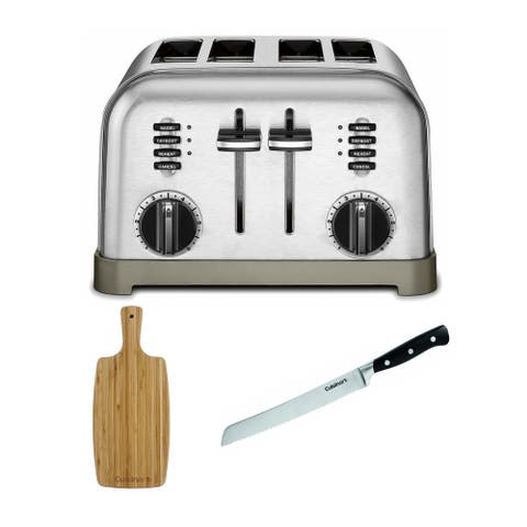 Cuisinart CPT-180 Metal 4-Slice Toaster with Board and Knife