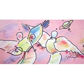 Space Angels, Ltd Ed Lithograph, Peter Max