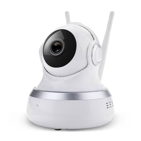 1080P Home Security HD IP Cam Wireless Smart WiFi Audio CCTV Camera Night Vision - White - S