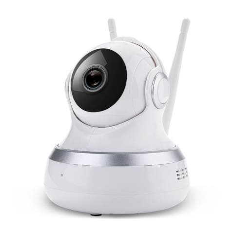 HD 1080P Home Security IP Wireless Smart WiFi Audio Surveillance CCTV Camera - White - S