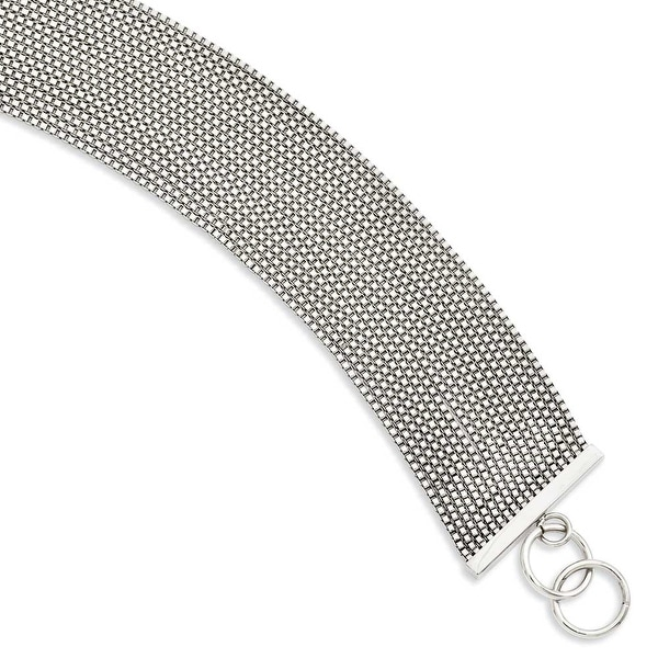 "Stainless Steel Multistrand 8"" Box Chain Bracelet"