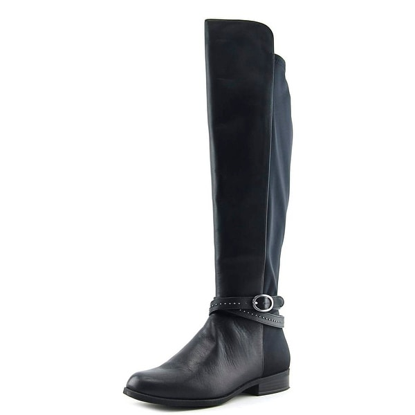Bandolino Cassia Women Round Toe Leather Black Knee High Boot