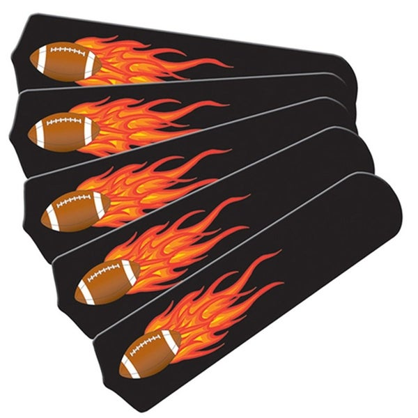 Flaming Football Graphics Custom Designer 52in Ceiling Fan Blades Se - Multi