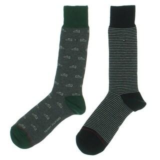 Tommy Hilfiger Mens Dress Socks Printed Calf