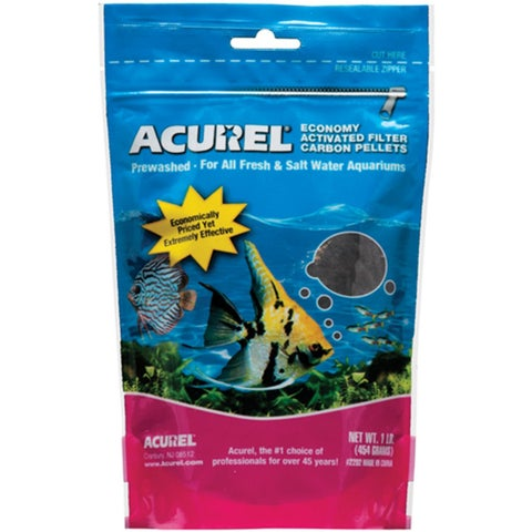 Acurel LLC Economy Activated Filter Carbon Pellets Aquarium and Pond Filter Accessory, 1-Pound