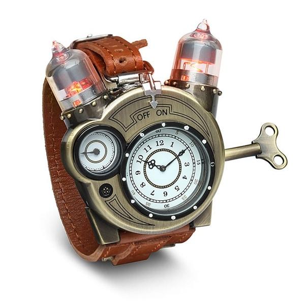 Steampunk Styled Tesla Analog Watch