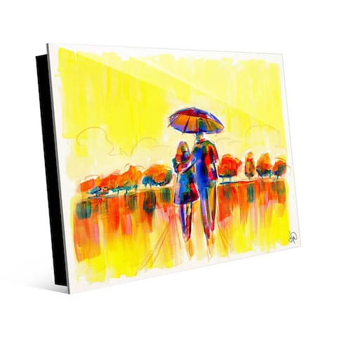 Kathy Ireland Perfect Bright & Sunny Morning Abstract on Acrylic Wall Art Print