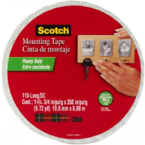"Scotch 110-LNG-HNG Mounting Tape, 3/4"" x 350"""