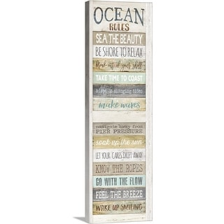 """Ocean Rules"" Canvas Wall Art"
