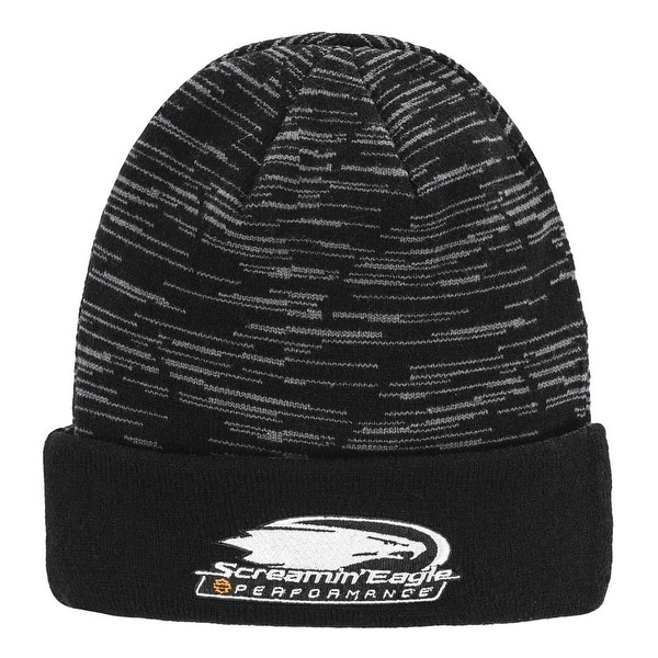 039652b4e Shop Harley-Davidson Men s Screamin  Eagle Reversible Cyclone Knit Cap  HARLMH0337 - Free Shipping On Orders Over  45 - Overstock - 25365850