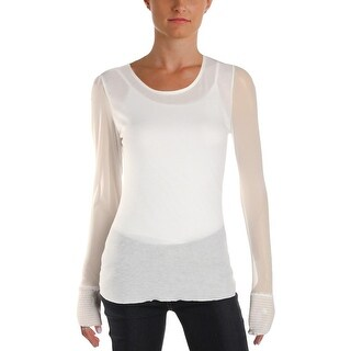 Free People Womens Turn It Up Pullover Top Sheer Illusion - M