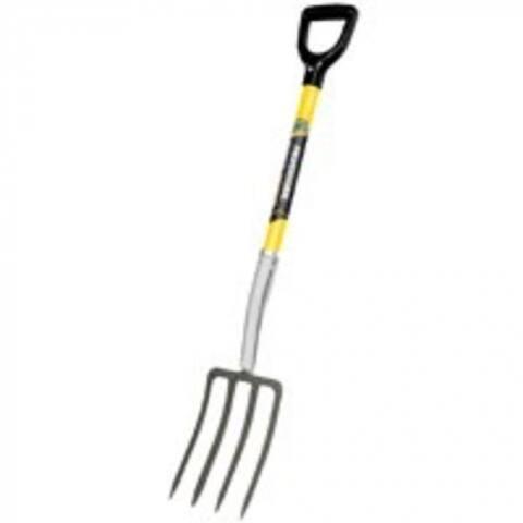 "Mintcraft 33259 Spading Fork With Fiberglass Handle, 4 Tines, 30"" Handle"