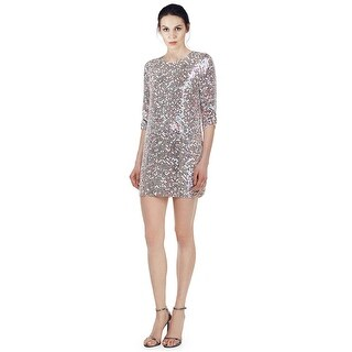 Parker Petra 3/4-Sleeve Sequined Shift Cocktail Party Dress
