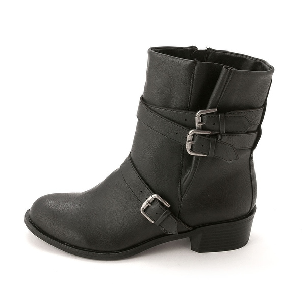 Style & Co. Womens BAXTEN Leather Round Toe Ankle Fashion Boots