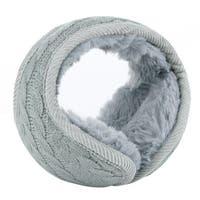 Warm Foldable Winter Knit Earmuffs for Women Men Gray-1